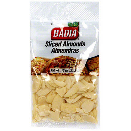 Badia Sliced Almonds, 0.75 oz (Pack of 12)