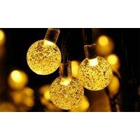 Solar Powered LED String Ball Lights Warm White LED Lighting Decorations Holiday Christmas Lights