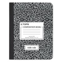 TOPS Composition Book, Wide Rule, 100 Pages, Black Marble