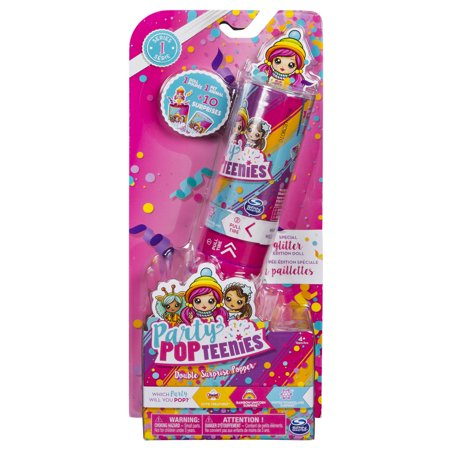 Double Doll Case (Party Popteenies - Double Surprise Popper, with Confetti, Collectible Mini Doll and Accessories, for Ages 4 and Up (Styles May Vary))