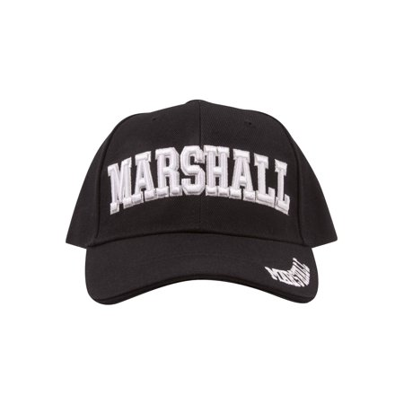 Embroidered Marshall Adjustable  Hat - Black
