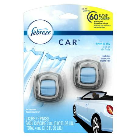Febreze Car Air Freshener Linen   Sky  2 Count  0 13 Oz