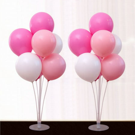 Valentines Party Decor (SUPERHOMUSE 1 Set Plastic Balloon Support 7 Tubes Balloons Column Stand Birthday Party Decoration Valentines Day Wedding Decor)