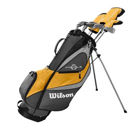 Wilson Profile XD Men's LH Flex Graphite Steel Golf Club Stand Bag Set, (Best Way To Wash Golf Clubs)