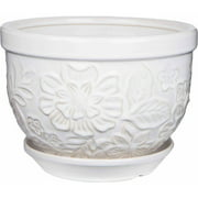 Pennington Ceramic Vintage Floral Pot/Planter, 12 inch