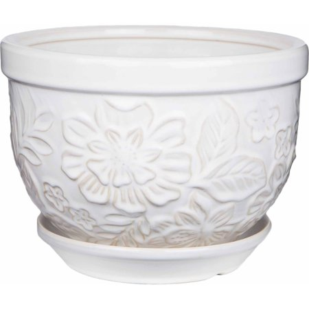 Pennington Ceramic Vintage Floral Pot Planter 12 Inch