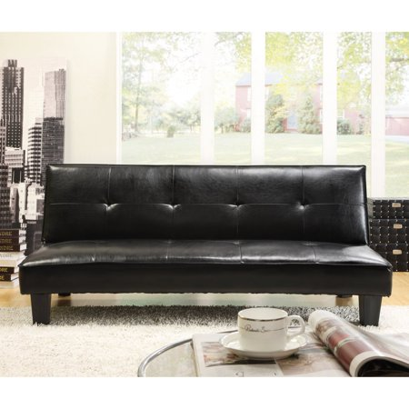 Chelsea Lane Tufted Mini Sofa Bed Lounger - Dark Brown