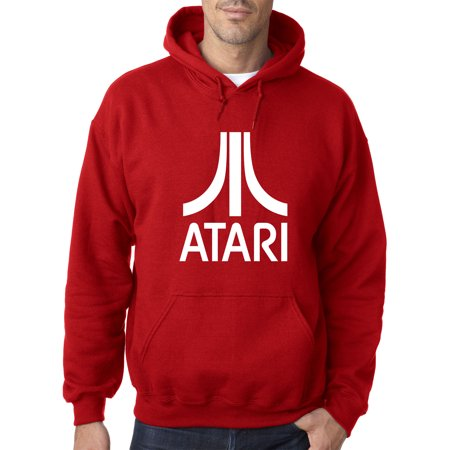 - New Way 901 - Adult Hoodie Atari 2600 Old School Gaming System Logo Sweatshirt Medium Red
