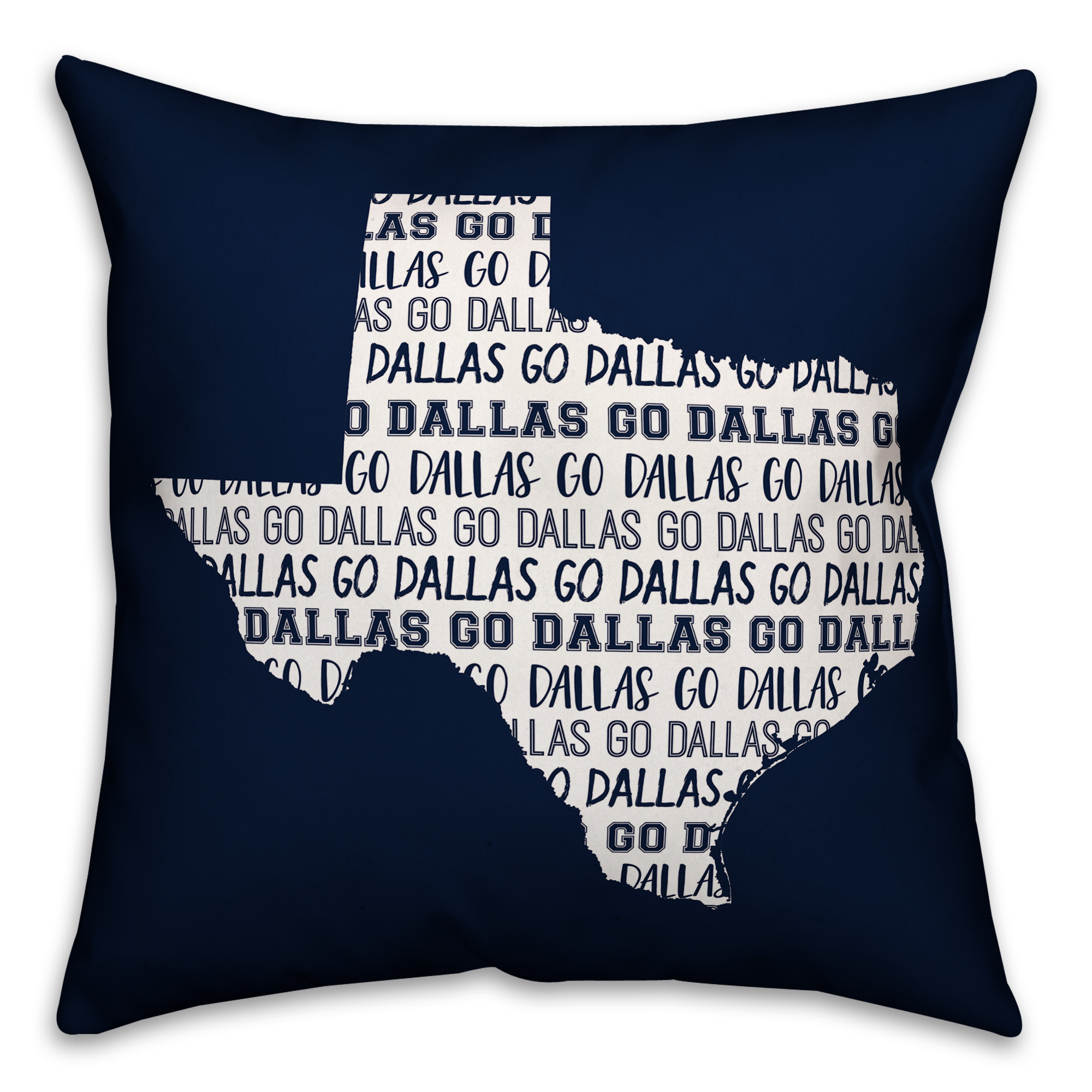 Blue Texas Go Team 16x16 Spun Poly Pillow