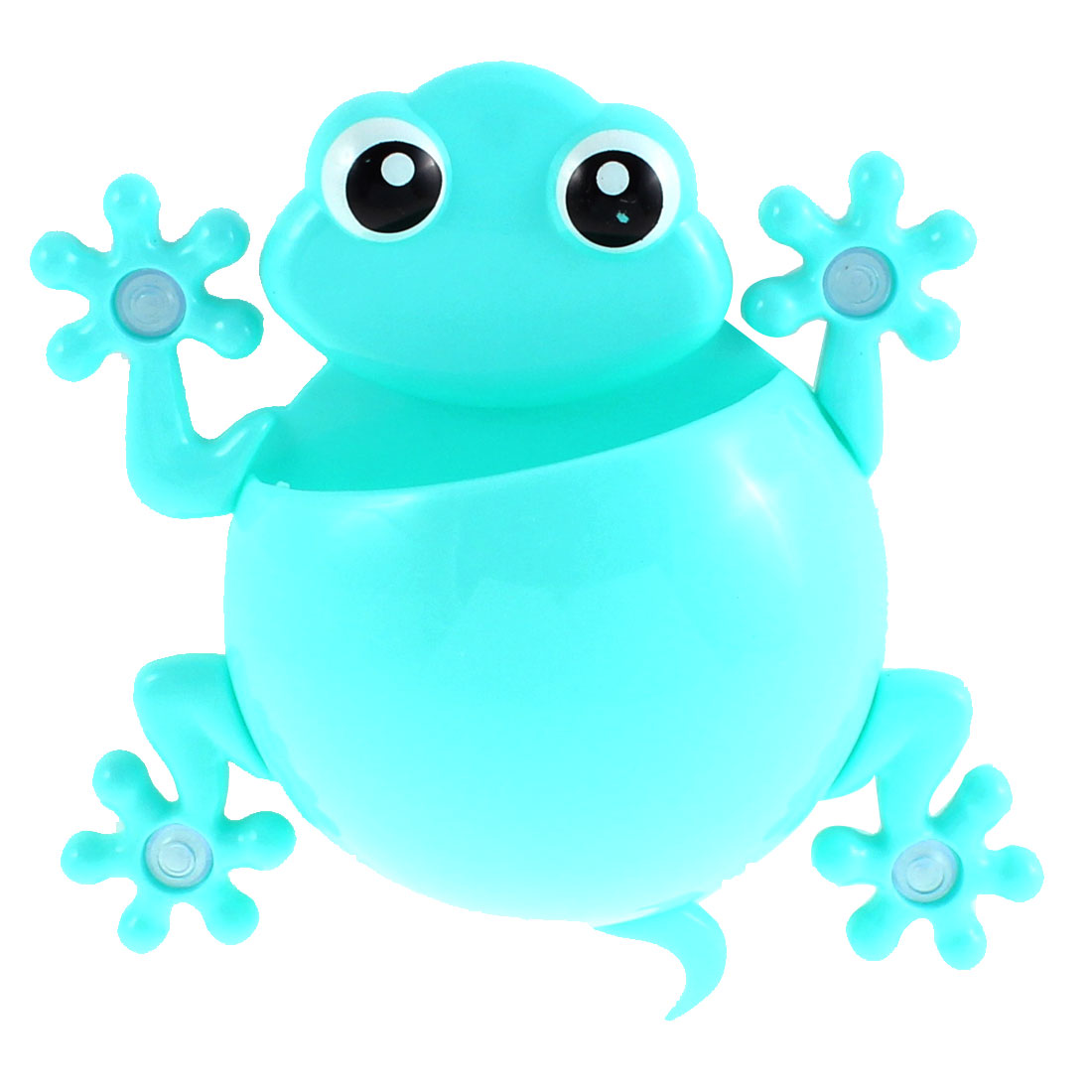 Gecko Design Suction Cup Toothbrush Toothpaste Holder Rack Light Blue