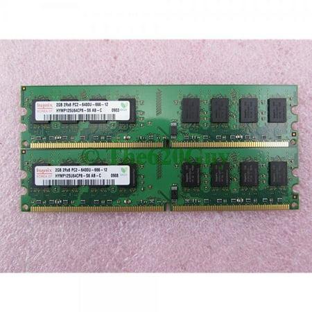 hynix hymp125u64cp8-s6 4gb 2 x 2gb pc2-6400u ddr2 800 non-ecc unbuff memory kit