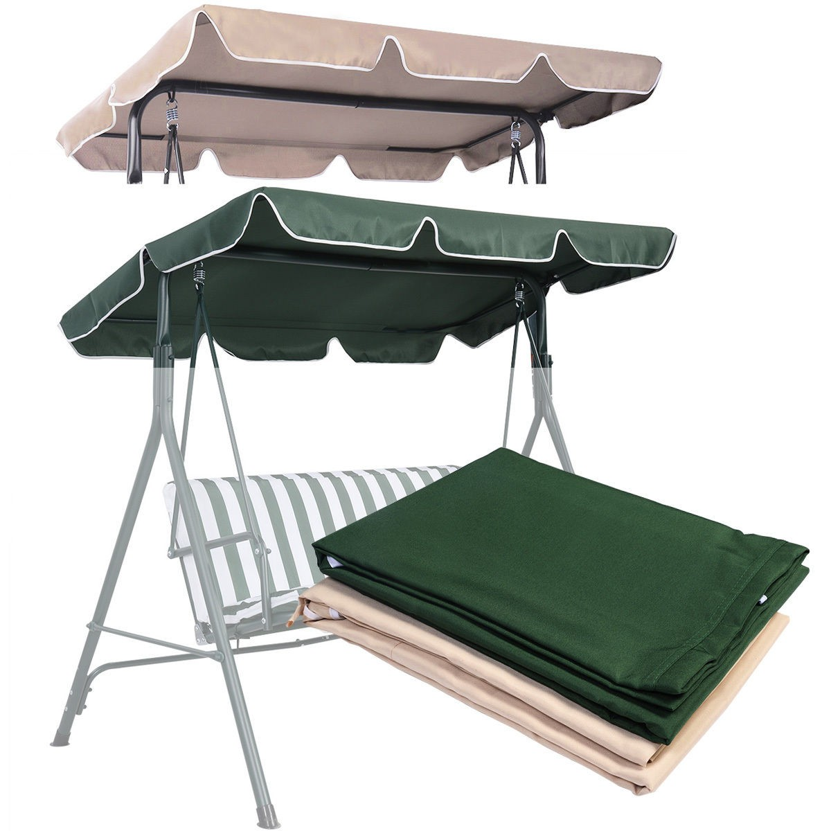 Hammock Awning Outdoor Patio Swing Canopy Replacement Cover Green - Walmart.com  sc 1 st  Walmart & Hammock Awning Outdoor Patio Swing Canopy Replacement Cover Green ...