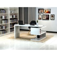 J & M Furniture 17914 A33 Office Desk - White