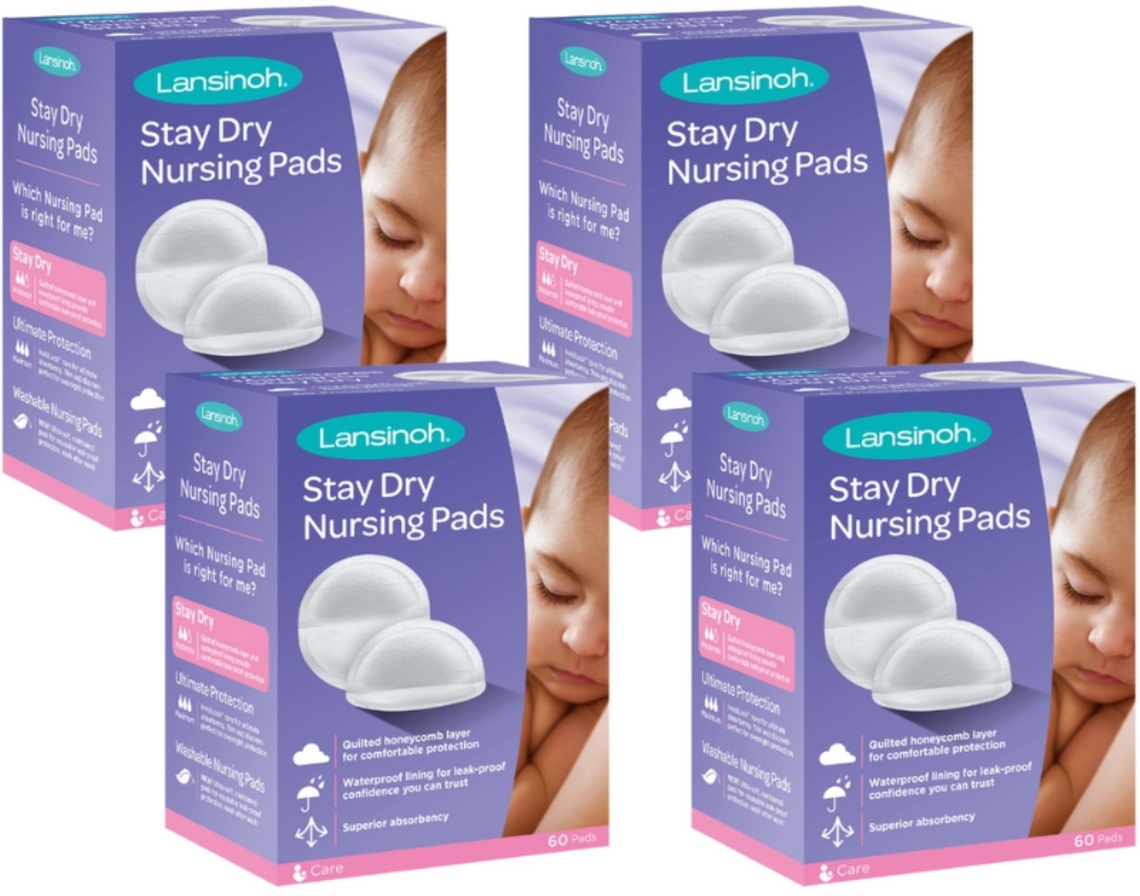 Lansinoh Nursing Pads Stay Dry 60 Each by Lansinoh