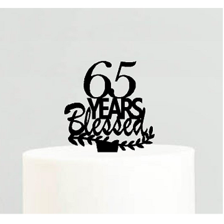 65th Birthday / Anniversary Blessed Years Cake Decoration Topper (65th Birthday Ideas)