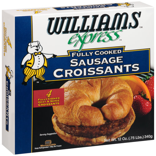 Williams Express Fully Cooked Sausage Croissants, 4 count, 12 oz