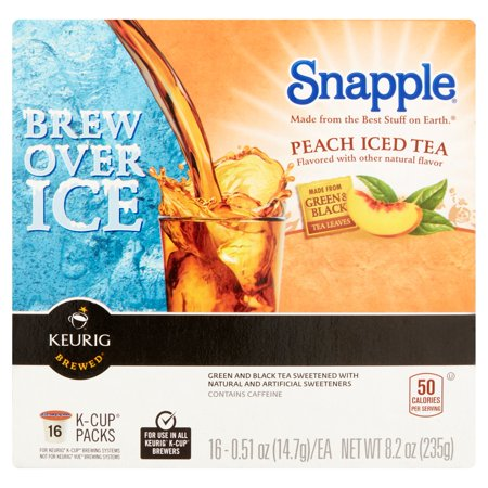 Snapple Peach Iced Tea, 0.51 oz, 16 pack