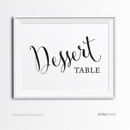 Dessert Table Formal Black & White Wedding Party Signs
