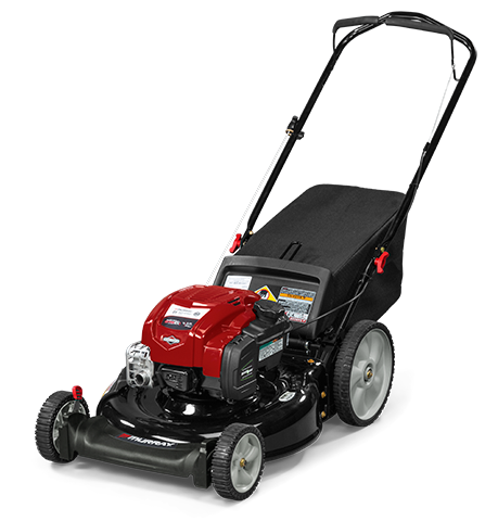 "Murray 21"" Gas Push Lawn Mower with Briggs and Stratton Engine, Side Discharge, Mulching, Rear Bag, Rear High Wheels"