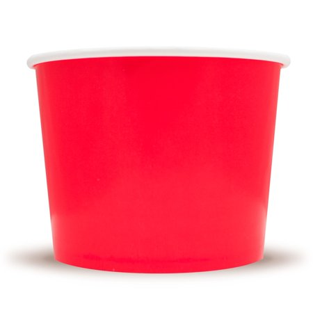 Frozen Dessert Supplies 16 oz Red Ice Cream Cups - Comes In Many Colors & Sizes! Fast Shipping! 50 Count for $<!---->