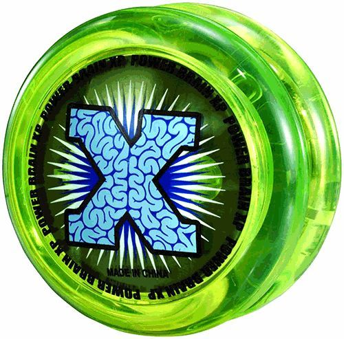 YOMEGA POWER BRAIN XP NEON GREEN YELLOW CLEAR YO YO