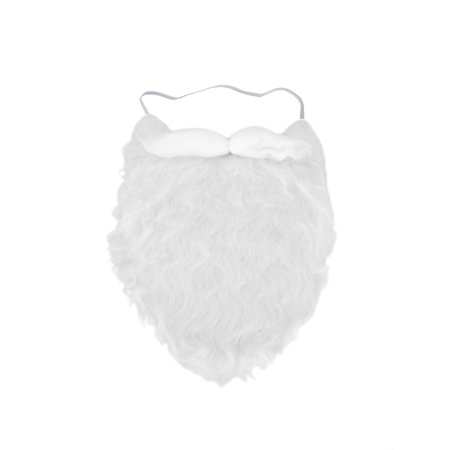 Fun Costume Beard White Santa Moustache Accessory Fake Pirate strap On gnome (Halloween Fake Blood Ideas)