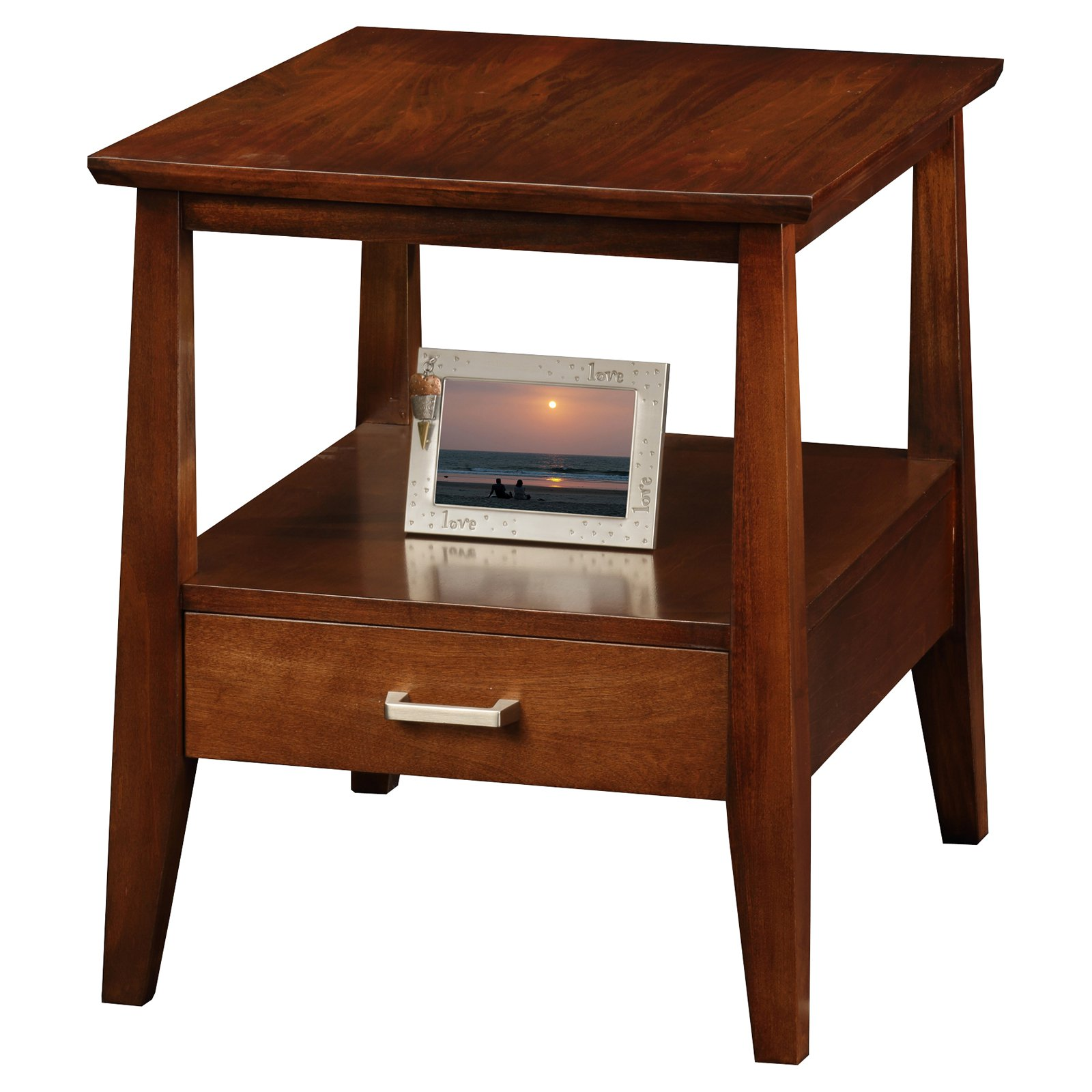 Leick Home Drawer End Table - Delton Collection 10407