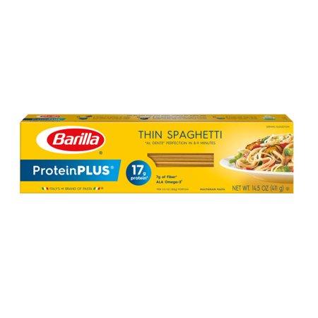 (12 Pack) Barilla ProteinPLUS Thin Spaghetti, 14.5 oz (Barilla Thin Spaghetti)