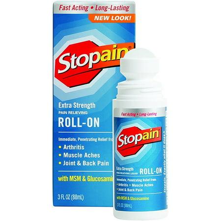 6 Pack Stopain Extra Strength Roll On 3 Oz Walmart Com