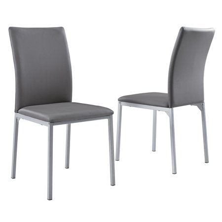 Mainstays Upholstered Metal Frame Dining Chair, Set of 2 ()