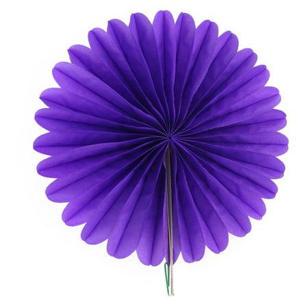 Dark Purple Wedding (Tissue Paper Wedding Party Hanging Decor Wheel Fan Honeycomb Flower Dark)