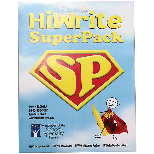 Abilitations Hi-Write Writing Practice Paper SuperPack, 98-Sheet Set