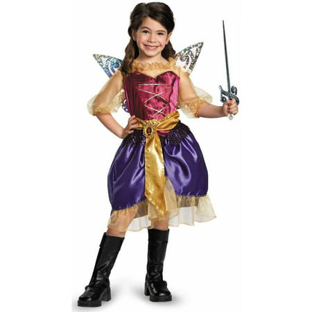 Tinker Bell and The Pirate Fairy Pirate Zarina Girls' Child Halloween Costume - Gothic Tinkerbell Costume