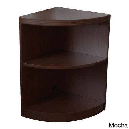 Mayline Aberdeen Quarter Round Mocha Bookcase Mocha