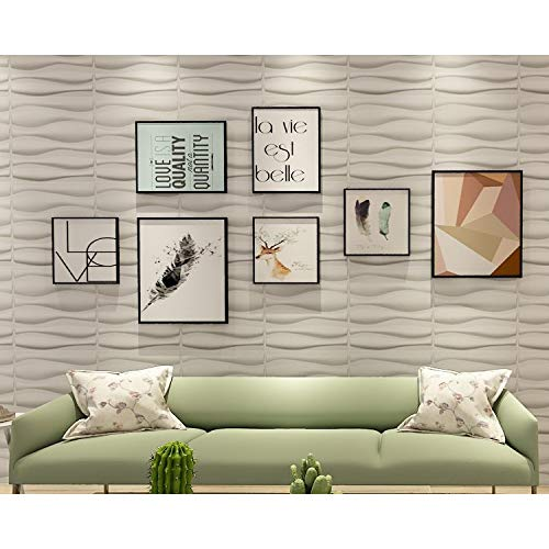 Art3d PVC Textured 3D Wall Panels/Decoration Brick Design Wall Decor/Eco  Friendly Modern 3D PVC Design/Glue Up Interior Wall Décor