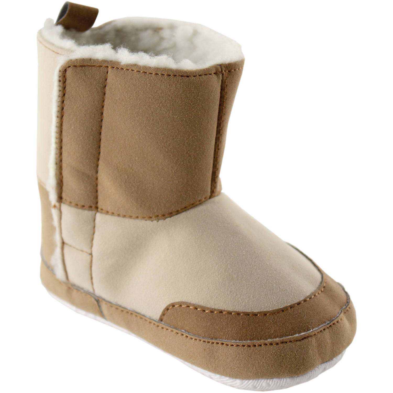 Luvable Friends Baby Girl's Winter Boots (Infant), Tan, 0-6 Months M US Infant
