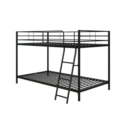 Mainstays Small Space Twin over Twin Bunk Bed, Black Metal