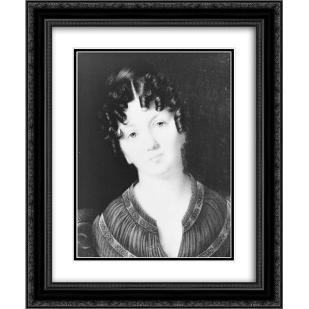 Eliza Monroe Hay, daughter of President James Monroe, head-and-shoulder portrait, head tilted left, facing front 20x24 Double Matted Black Ornate Framed Art Print Left Tilt Arbor