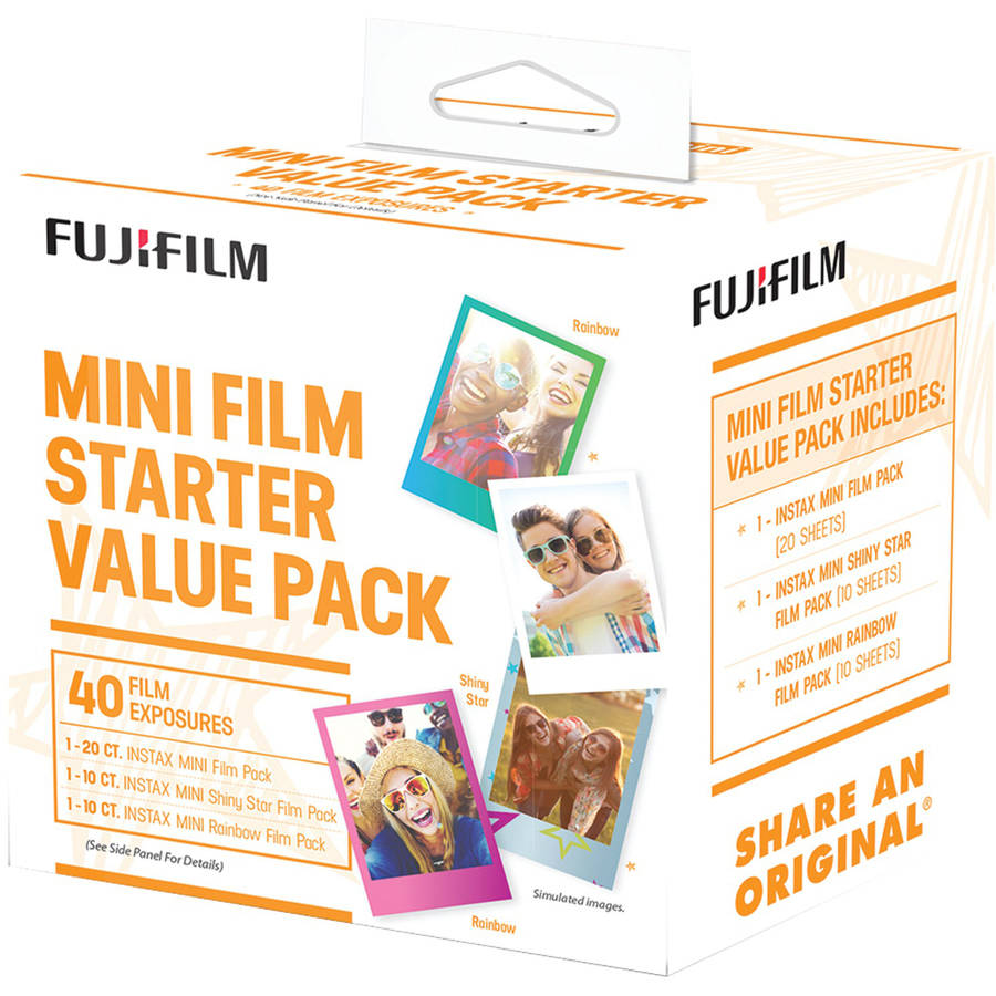 Fujifilm 600017191 Instax Mini Film Pack (starter Value Pack)