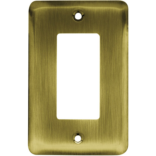 Brainerd Rounded Corner Single Decorator Wall Plate, Available in Multiple Colors
