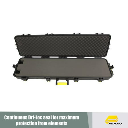 Plano AW Double Scoped Rifle Case with Wheels, Black/Yellow ()