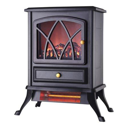 Konwin FP202-Q Electric Heater, Steel, Black