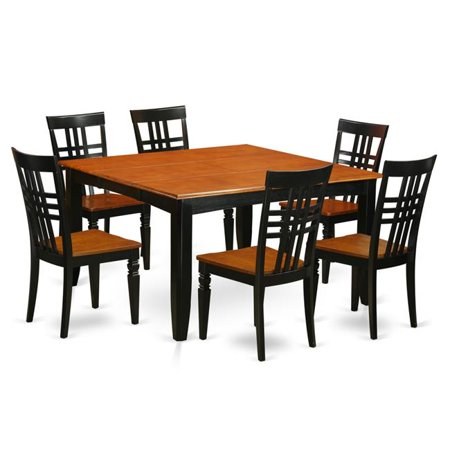 Amazing Kitchen Table Set With One Parfait Table Six Chairs Black Cherry 7 Piece Ibusinesslaw Wood Chair Design Ideas Ibusinesslaworg