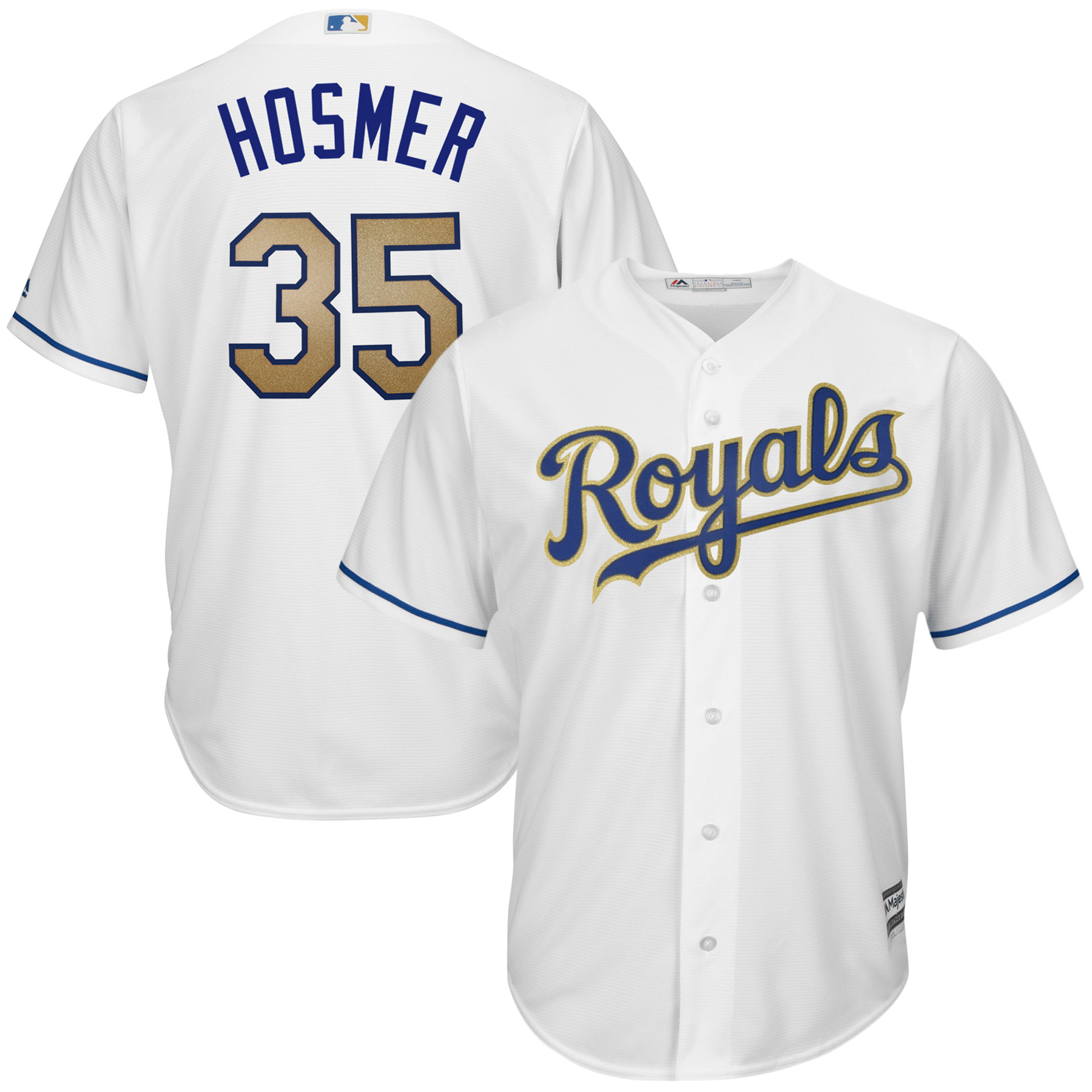 Eric Hosmer Kansas City Royals Majestic 2017 Home Cool Base Replica Jersey - White