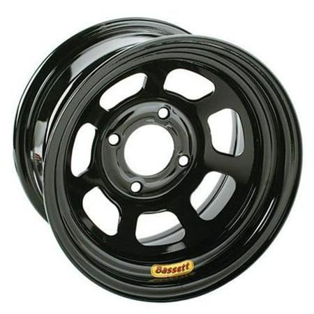 Bassett 13x7 Pony/Mini Stock/Legend Racing Wheel 4x4.5 Black 4 BS ()