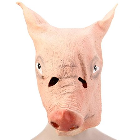 Funny Halloween Mask Artificial Pig Head Party Custume Cosplay Gadget (Pug Halloween Mask)