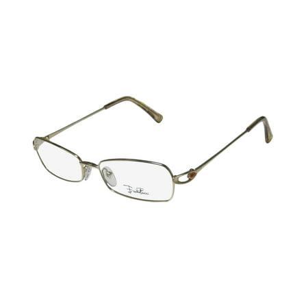 New Emilio Pucci 2113r Womens/Ladies Designer Full-Rim Shiny Gold  Prestigious Brand Gorgeous Frame Demo Lenses 52-16-130 Eyeglasses/Eye  Glasses