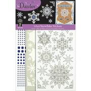 Dazzles Stickers Mix 'Ems Tricolor 3/Pkg-White/Silver Snowflakes & Blue Jewels