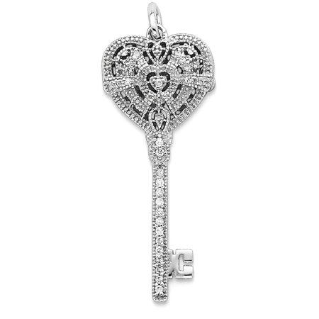 (ICE CARATS 925 Sterling Silver Cubic Zirconia Cz Heart Key Photo Pendant Charm Locket Chain Necklace That Holds Pictures Fine Jewelry Ideal Gifts For Women Gift Set From Heart)