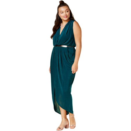 Belted Jersey Dress (City Chic Womens Plus Belted Jersey Maxi Dress)